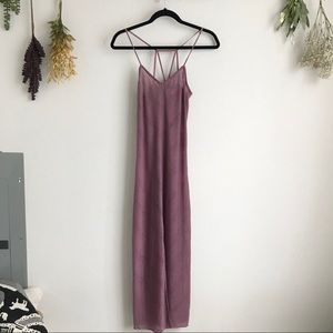 Free People Beach Strappy Mauve Maxi Dress